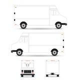 Curso do esboço do molde do caminhão do alimento no fundo branco Pode ser usado para a identidade corporativa e o projeto de marc ilustração stock