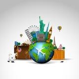 Curso do fundo do mundo Fotos de Stock