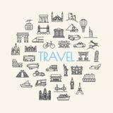 Curso do fundo, férias, lugares famosos transporte e VE Imagens de Stock