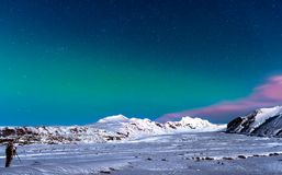 Curso do inverno a Islândia fotografia de stock royalty free