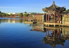 Curso do lago Beijing Shichahai, Beijing imagem de stock