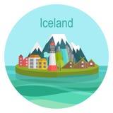 Curso do marco de Islândia Foto de Stock