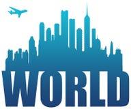 Curso do mundo Imagem de Stock