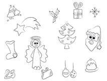 Curso do Natal ilustração stock