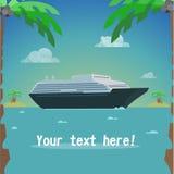 Curso do navio ilustração do vetor