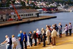 Curso do navio de cruzeiros, Langesund, Noruega Fotografia de Stock
