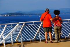Curso do navio de cruzeiros, Langesund, Noruega Foto de Stock
