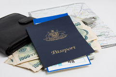 Curso do passaporte Fotos de Stock
