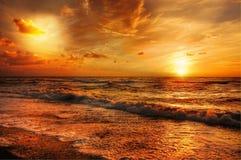 Curso do por do sol Foto de Stock