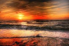 Curso do por do sol Fotografia de Stock