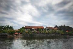 Curso do rio dos barcos de Hanoi Vietname Fotos de Stock