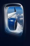 Curso do vôo fotografia de stock royalty free