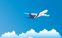 Curso do voo do avião Imagem de Stock Royalty Free
