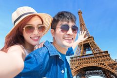 Curso dos pares a Paris imagens de stock