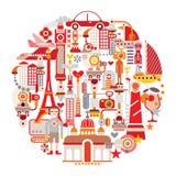 Curso e turismo ilustração do vetor