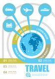 Curso e turismo infographic Foto de Stock Royalty Free