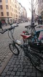 Curso em cidades grandes com bicicletas Fotos de Stock