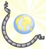 Curso em torno do mundo Imagens de Stock Royalty Free