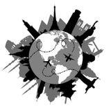 Curso em torno do mundo Foto de Stock Royalty Free
