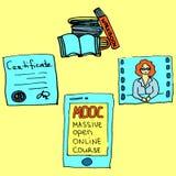 Curso en línea abierto masivo Imagen de archivo libre de regalías