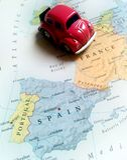 Curso Europa - França, Espanha, Portugal Imagem de Stock