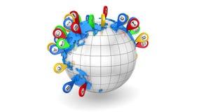Curso global ilustração stock