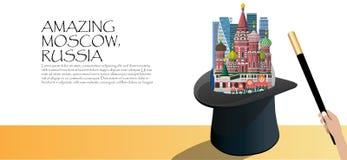 Curso Infographic Moscou de surpresa, Rússia infographic ilustração royalty free