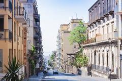 Curso a Itália - arquitetura da cidade bonita de Catania, Sicília imagem de stock