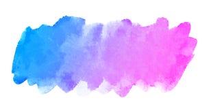Curso lilás azul da escova da aquarela abstrata Fotos de Stock Royalty Free
