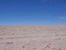 Curso liso Bolívia do deserto de Solt Fotografia de Stock
