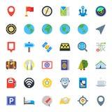Curso, mapa e lugar Imagens de Stock