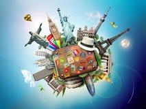 Curso, mundo Imagem de Stock