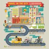 Curso na cidade Infographics Fotografia de Stock