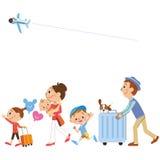 Curso nas famílias ilustração do vetor
