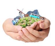 Curso nas mãos Foto de Stock