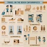 Curso no gráfico da informação da praia ilustração royalty free