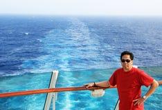 Curso pelo navio fotografia de stock