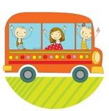 Curso pelo ônibus Foto de Stock