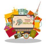 Curso que planeia ao conceito liso de Berlim ilustração do vetor