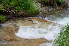 Curso rápido de un río de la montaña imágenes de archivo libres de regalías