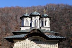 Curso a Romênia: Detalhes novos da igreja de Lainici fotografia de stock royalty free