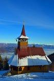 Curso a Romênia: Igreja do recurso de Straja fotografia de stock