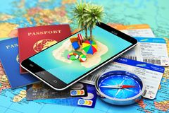 Curso, turismo, feriados e conceito das férias Fotos de Stock Royalty Free