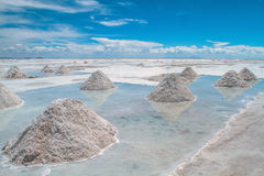 Curso Uyuni solar, Bolívia nave Fotografia de Stock Royalty Free