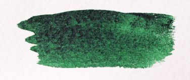 Curso verde com uma escova feita das aquarelas Fundo de papel Imagem de Stock