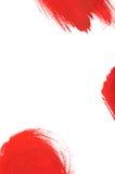 Curso vermelho da escova de pintura Foto de Stock Royalty Free
