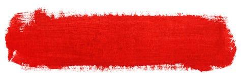 Curso vermelho da escova de pintura do guache Imagem de Stock Royalty Free