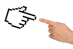Cursor And Hand Stock Photography