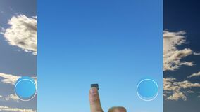 Cursor animation from clouds to clear skies