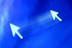 Cursor arrow. In move abstract background Stock Photos